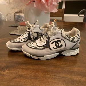 CHANEL women's fashion sneakers loafers